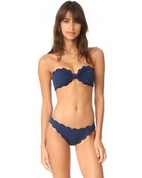 Top de bikini azul de Marysia Swim