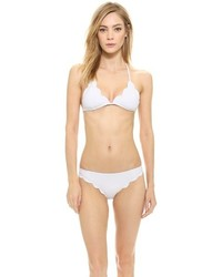 Top de Bikini Blanco de Marysia Swim