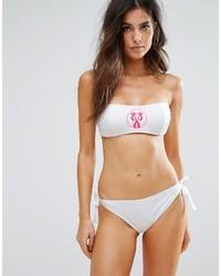 Top de bikini blanco de Moschino