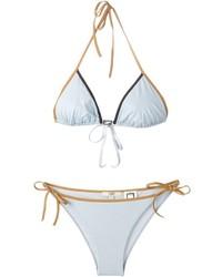 Top de bikini celeste de Fendi