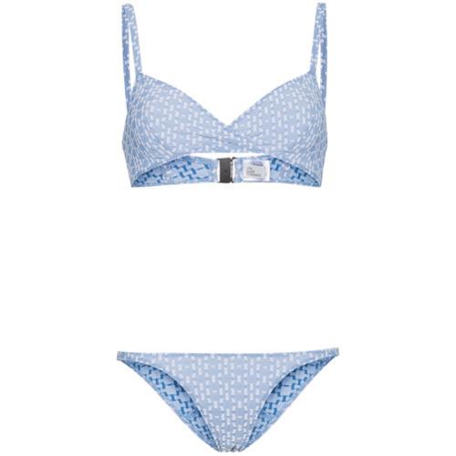 Top de bikini celeste de Lisa Marie Fernandez