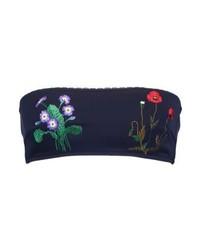 Top de bikini con print de flores azul marino de Stella McCartney