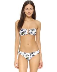 Top de bikini con print de flores blanco de Proenza Schouler