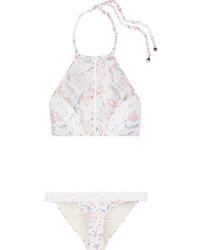Top de bikini con print de flores