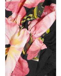 Top de Bikini con print de flores Rosado de Dolce & Gabbana