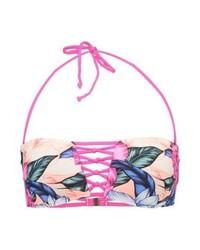 Top de Bikini con print de flores Rosado de Rip Curl
