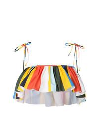Top de bikini con volante en multicolor de Tory Burch