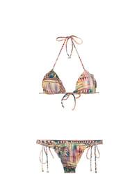 Top de bikini con volante marrón claro de Lygia & Nanny
