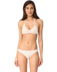 Top de bikini de crochet rosado de Stella McCartney