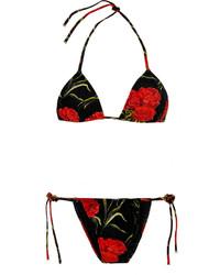 Top de Bikini de Flores Negro de Dolce & Gabbana
