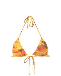 Top de bikini estampado amarillo de Lygia & Nanny