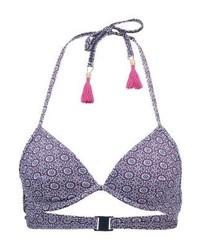 Top de Bikini Estampado Azul de Esprit