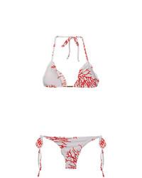 Top de bikini estampado blanco de BRIGITTE
