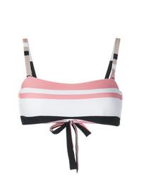Top de bikini estampado en multicolor de Asceno