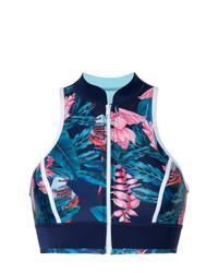 Top de bikini estampado en multicolor de Duskii