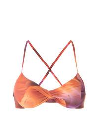 Top de bikini estampado naranja de Lygia & Nanny