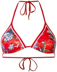 Top de bikini estampado rojo de Dsquared2