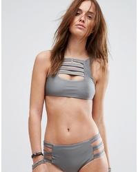 Top de bikini gris de Evil Twin