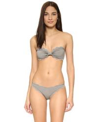 Top de bikini gris de Marysia Swim