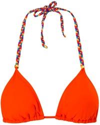 Top de bikini naranja