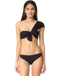 Top de bikini negro de Marysia Swim