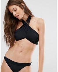Top de bikini negro de Noisy May