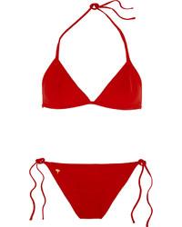 Top de bikini rojo de Tomas Maier