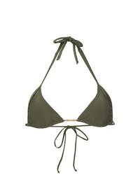 Top de bikini verde oliva de Lygia & Nanny