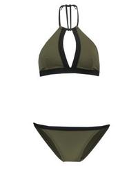 Top de Bikini Verde Oliva de Zalando Essentials