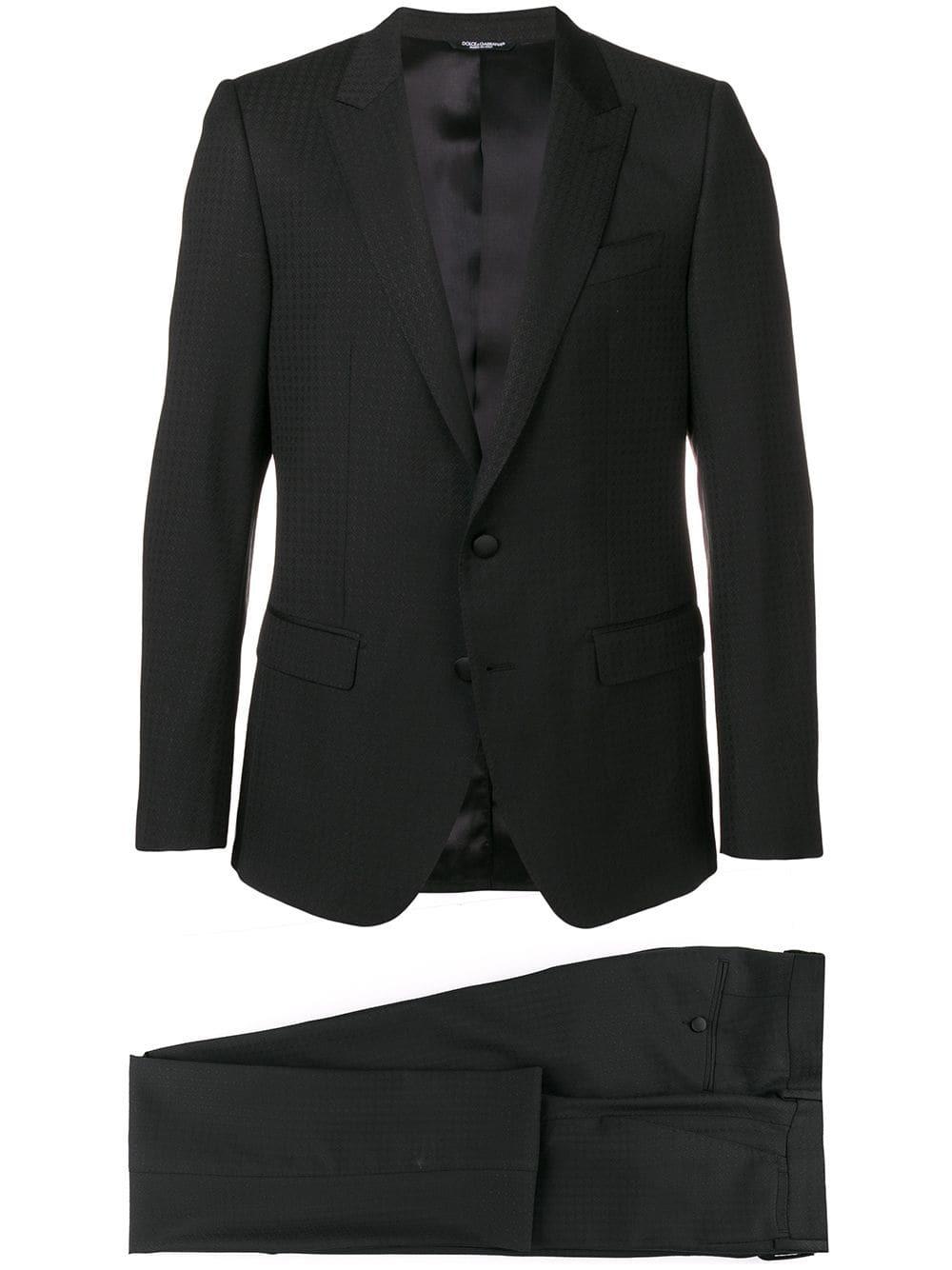 Traje a cuadros negro de Dolce & Gabbana
