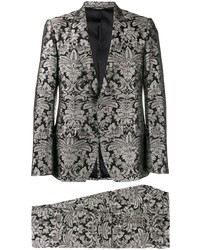 Traje con print de flores negro de Dolce & Gabbana