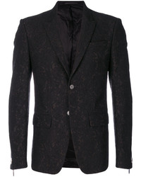 Traje con print de flores negro de Givenchy