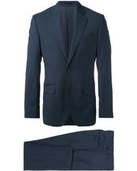 Traje de lana a cuadros azul marino de Hardy Amies