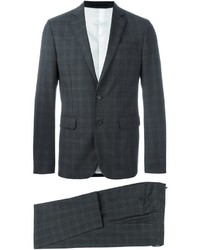 Traje de lana a cuadros en gris oscuro de DSQUARED2
