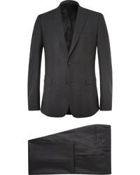 Traje de lana a cuadros en gris oscuro de Givenchy