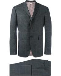 Traje de lana a cuadros en gris oscuro de Thom Browne