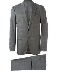 Traje de lana a cuadros gris de Armani Collezioni