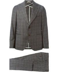 Traje de lana a cuadros gris
