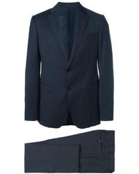 Traje de lana azul marino de Armani Collezioni
