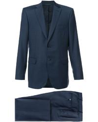 Traje de lana azul marino de Brioni