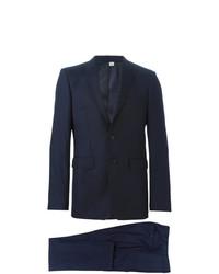Traje de lana azul marino de Burberry