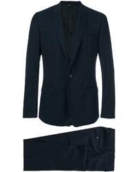 Traje de lana azul marino de Dolce & Gabbana
