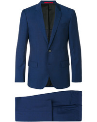 Traje de lana azul marino de Hugo Boss