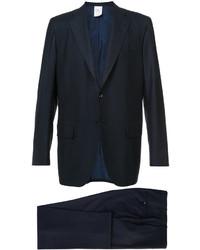Traje de lana azul marino de Kiton