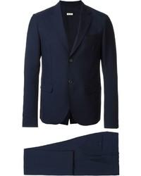 Traje de lana azul marino de Marni
