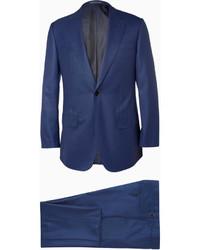 Traje de lana azul