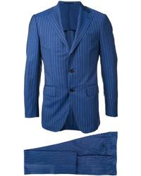 Traje de lana de rayas verticales azul de ESTNATION