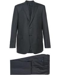 Traje de lana en gris oscuro de Brioni