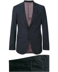 Traje de lana en gris oscuro de Giorgio Armani