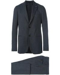 Traje de lana en gris oscuro de Lardini